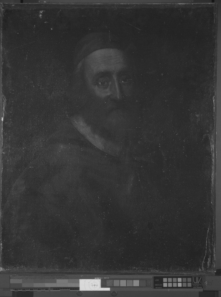 Painting shown reflecting UV light
