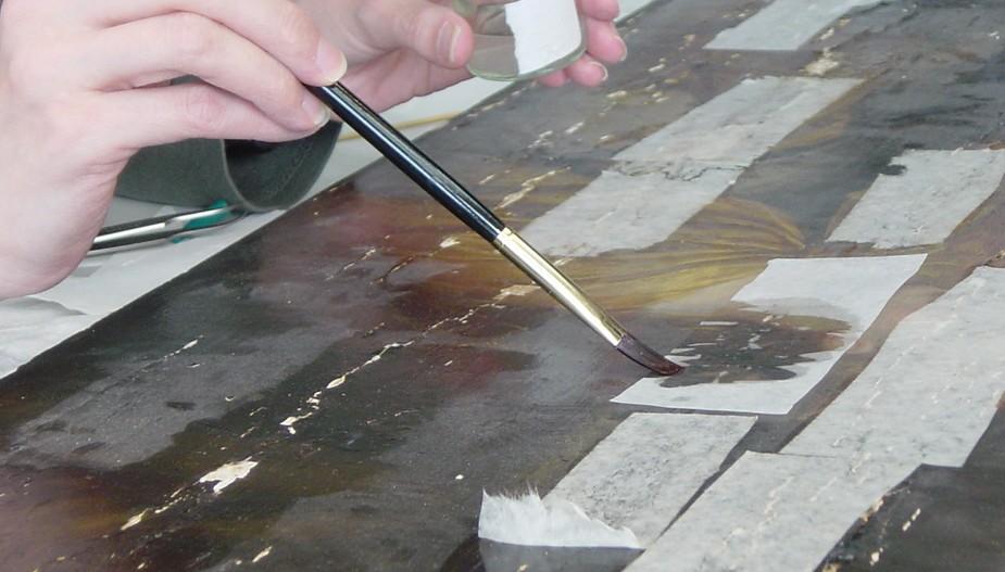 Repairing a canvas